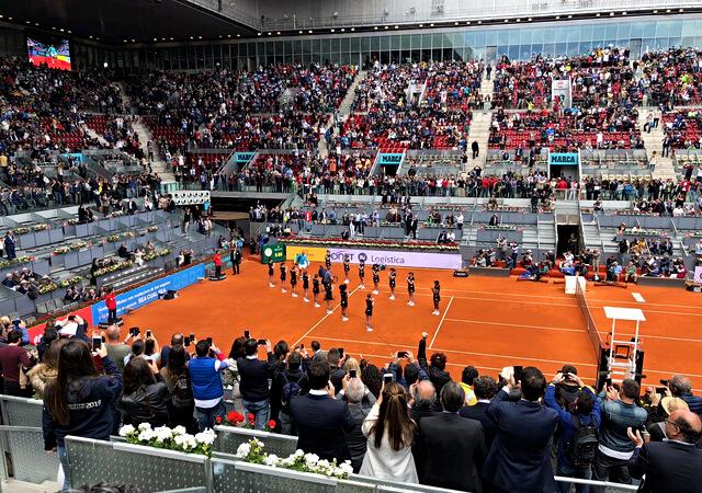 Atlas en una jornada de tenis en Madrid